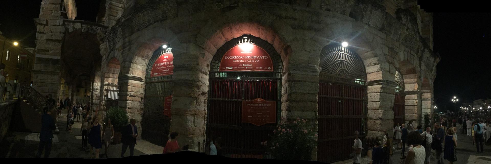 Arena Verona auf außen