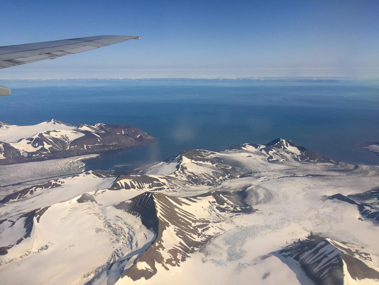 Anflug auf Svalbard