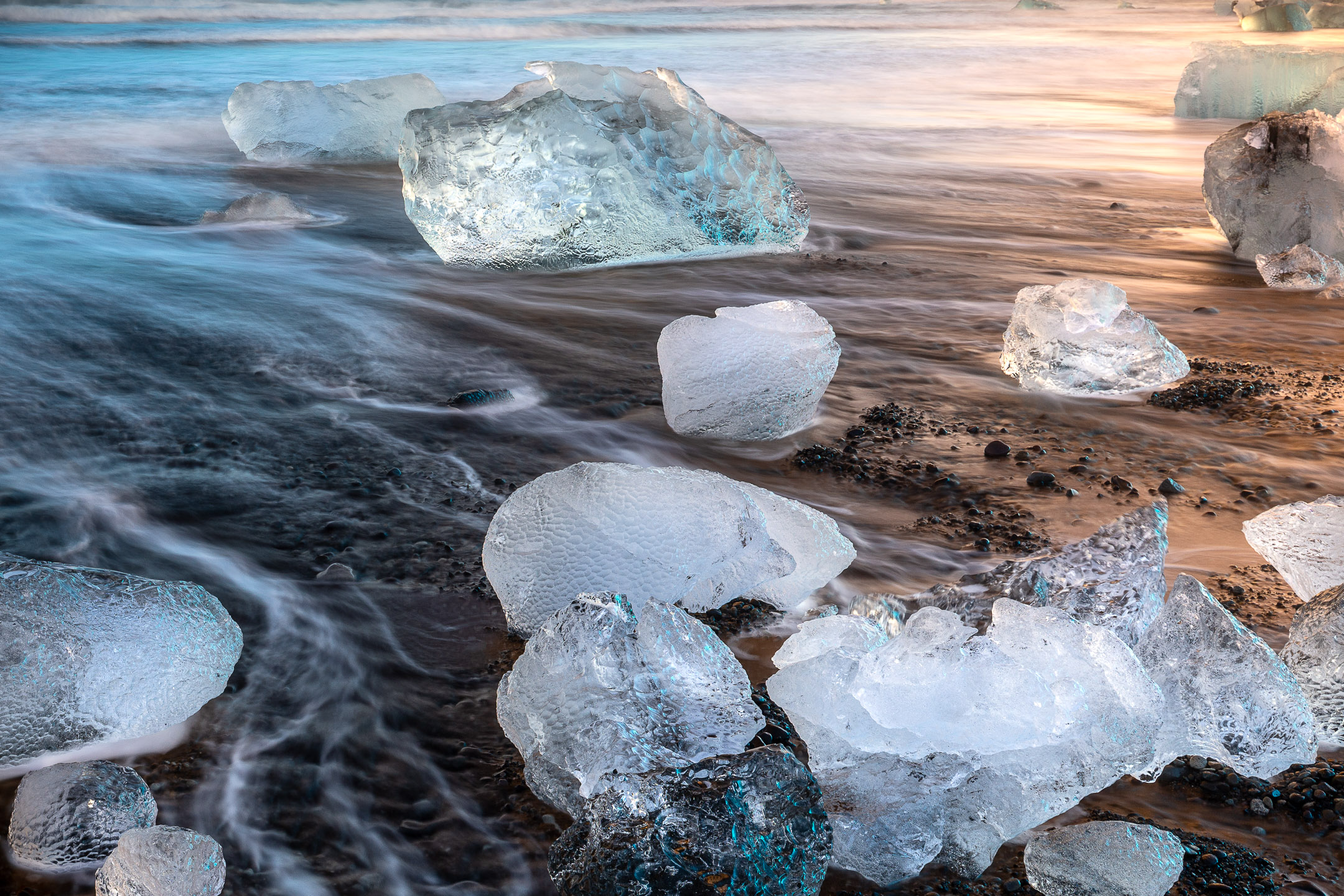 Diamonds of ice